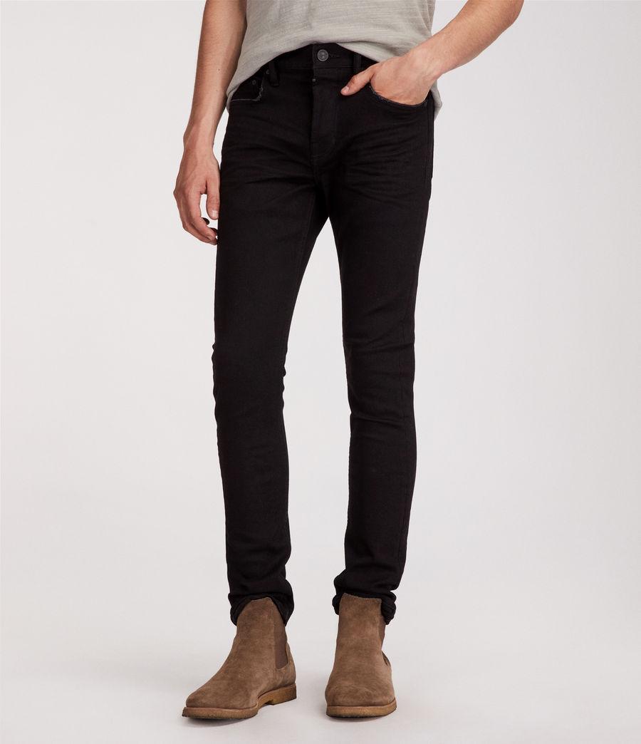Mens Boda Cigarette Skinny Jeans (jet_black) - Image 4