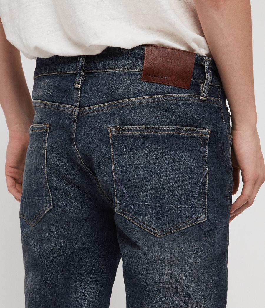 Men's Rex Straight Skinny Jeans (mid_indigo_blue) - Image 2