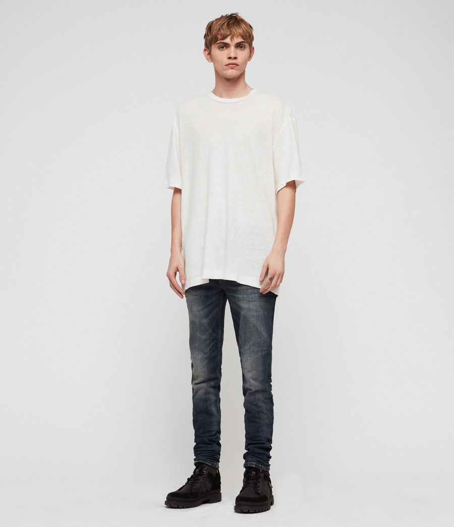Men's Rex Straight Skinny Jeans (mid_indigo_blue) - Image 3