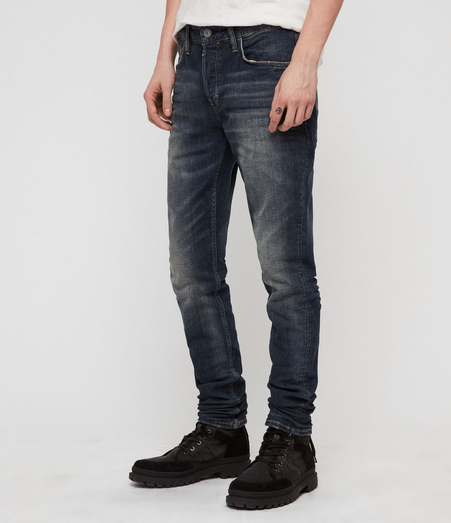 Hombres Rex Straight Skinny Jeans (mid_indigo_blue) - Image 4