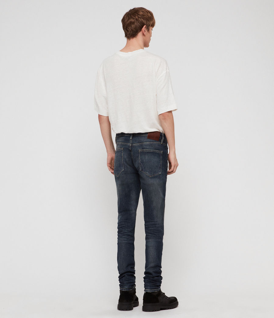 Hombres Rex Straight Skinny Jeans (mid_indigo_blue) - Image 6