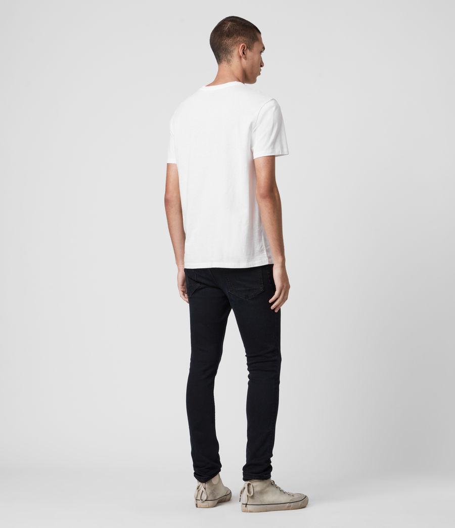 Mens Cigarette Skinny Jeans, Blue Black (blue_black) - Image 6