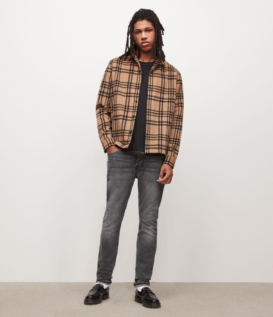 Herren Cigarette Skinny Jeans, Washed Black (washed_black) - Image 2