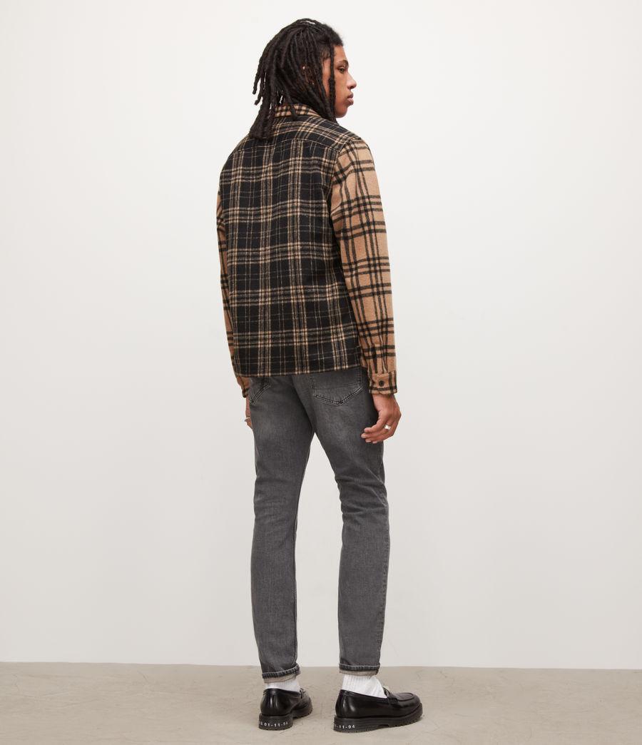 Herren Cigarette Skinny Jeans, Washed Black (washed_black) - Image 4