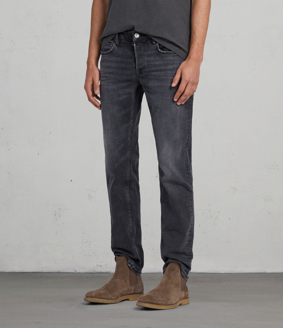 Men's Graine Reed Straight Jeans (grey) - Image 3