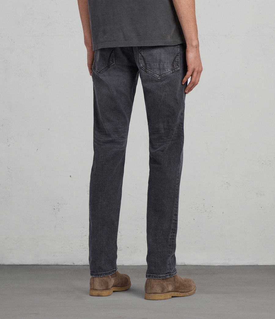 Men's Graine Reed Straight Jeans (grey) - Image 4
