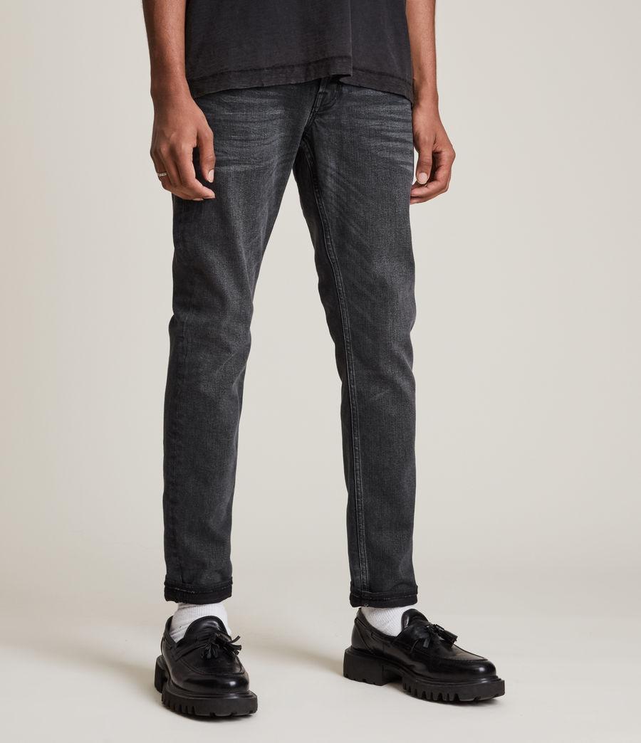 Herren Rex Slim Jeans, Washed Black (washed_black) - Image 1