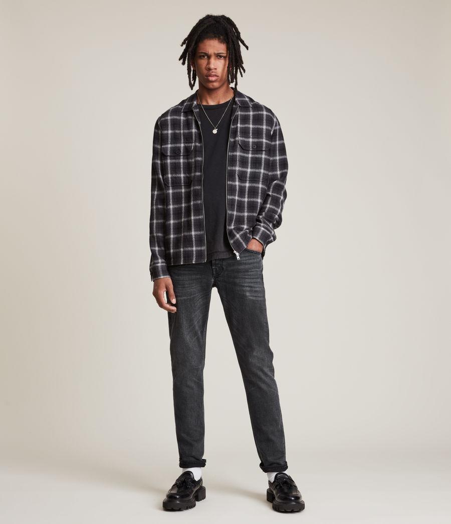 Herren Rex Slim Jeans, Washed Black (washed_black) - Image 2