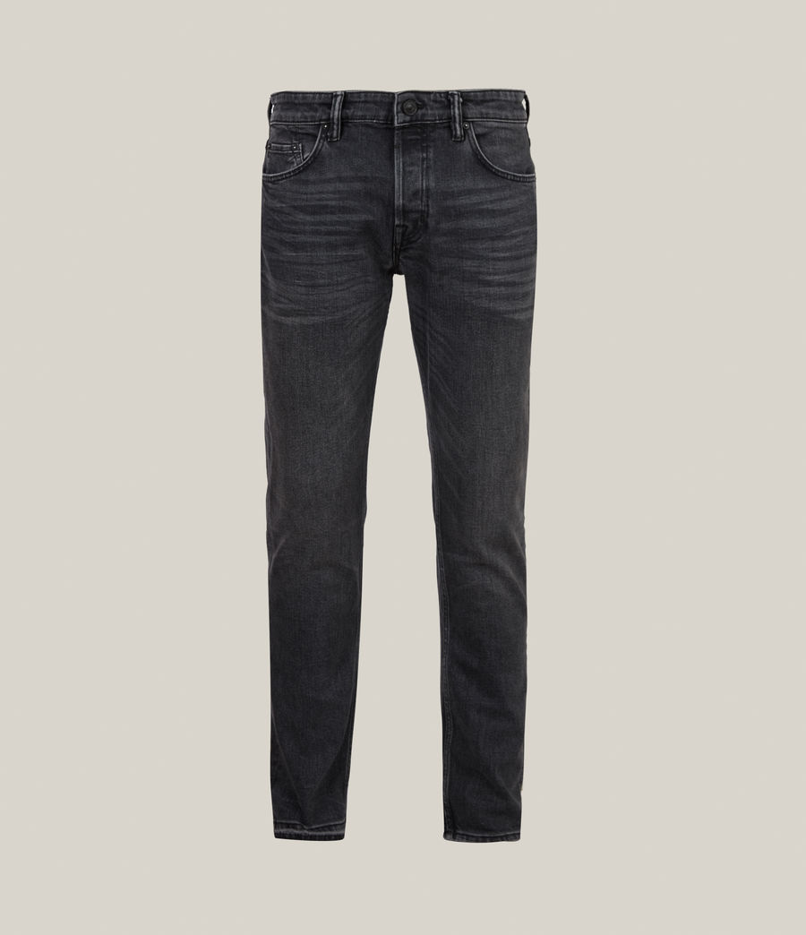 Herren Rex Slim Jeans, Washed Black (washed_black) - Image 3