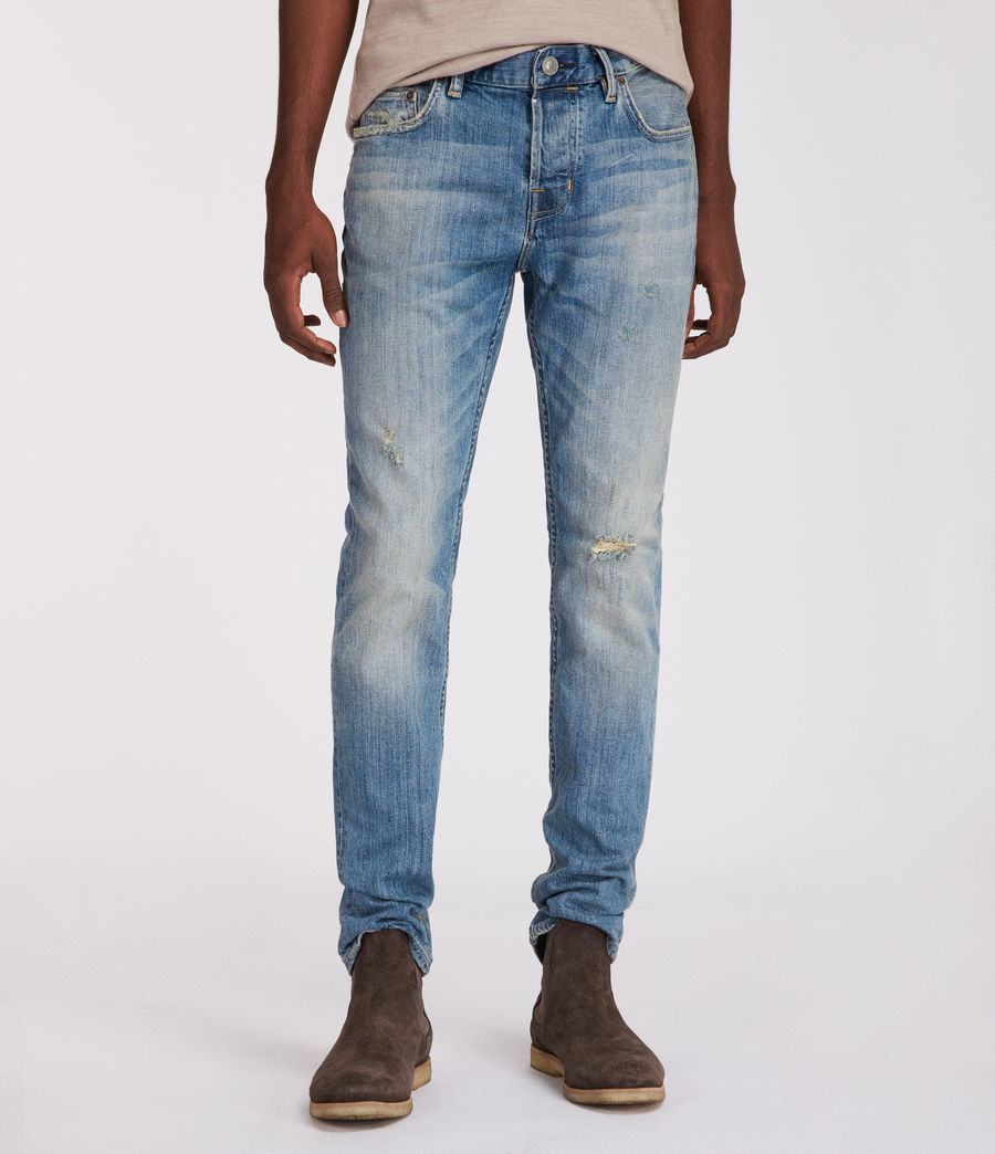 Mens Inyo Rex Straight Skinny Jeans (light_indigo) - Image 1