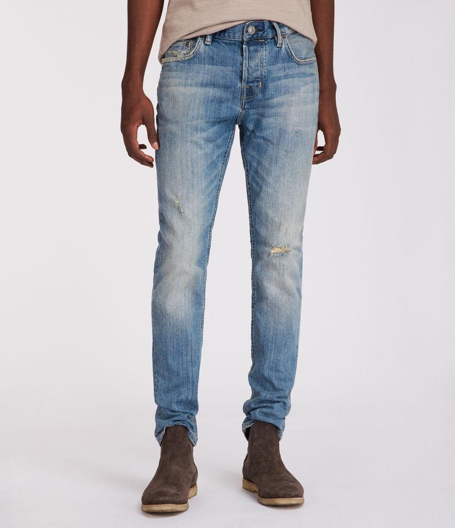Men's Inyo Rex Straight Skinny Jeans (light_indigo) - Image 1