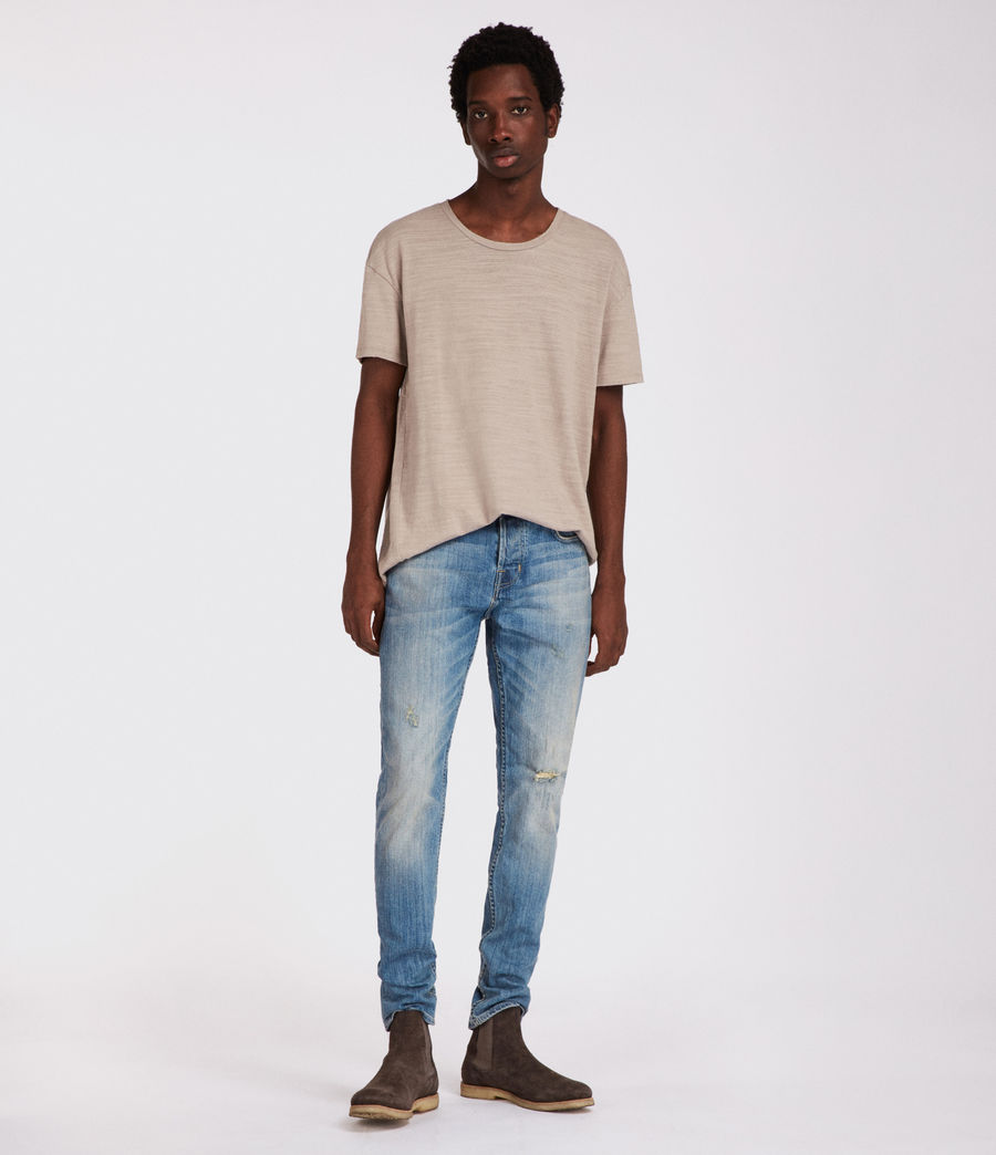 Men's Inyo Rex Straight Skinny Jeans (light_indigo) - Image 2