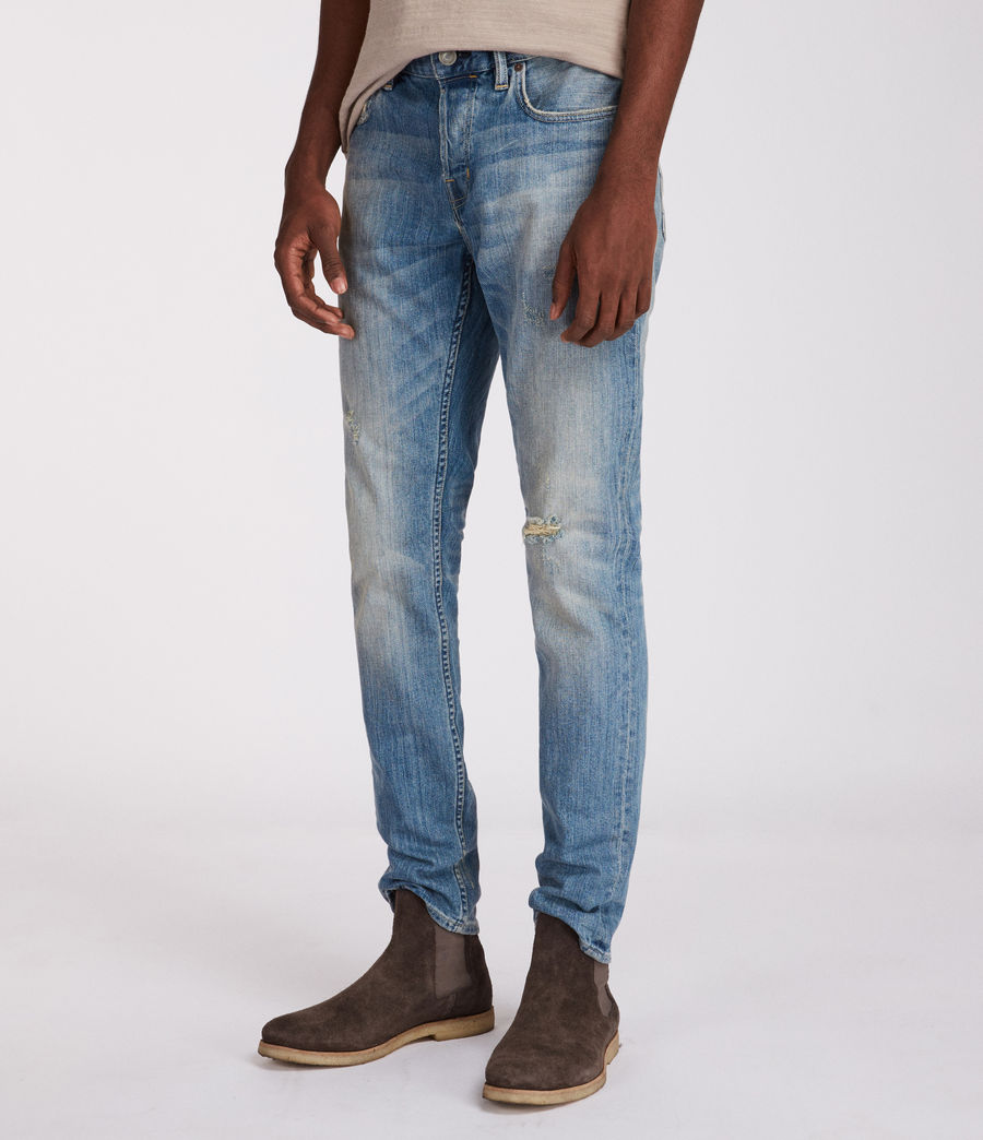 Mens Inyo Rex Straight Skinny Jeans (light_indigo) - Image 3