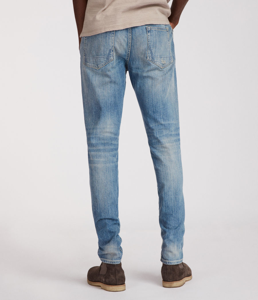 Mens Inyo Rex Straight Skinny Jeans (light_indigo) - Image 4