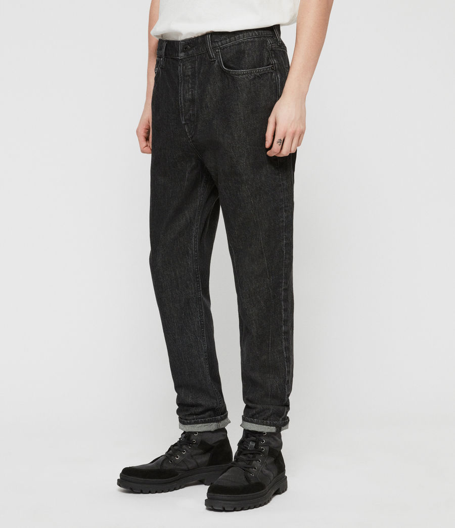 Men's Ridge Tapered Jeans, Washed Black (washed_black) - Image 2