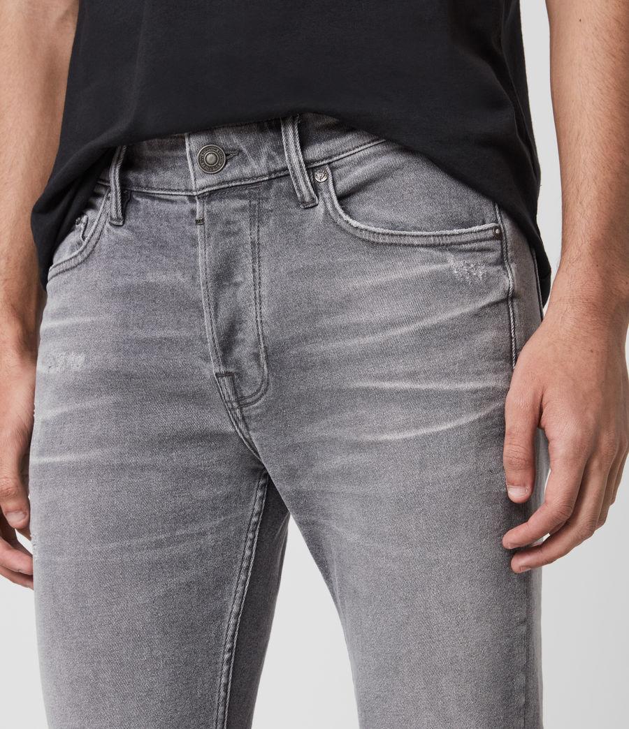 Men's Rex Damaged Slim Jeans, Grey (grey) - Image 2