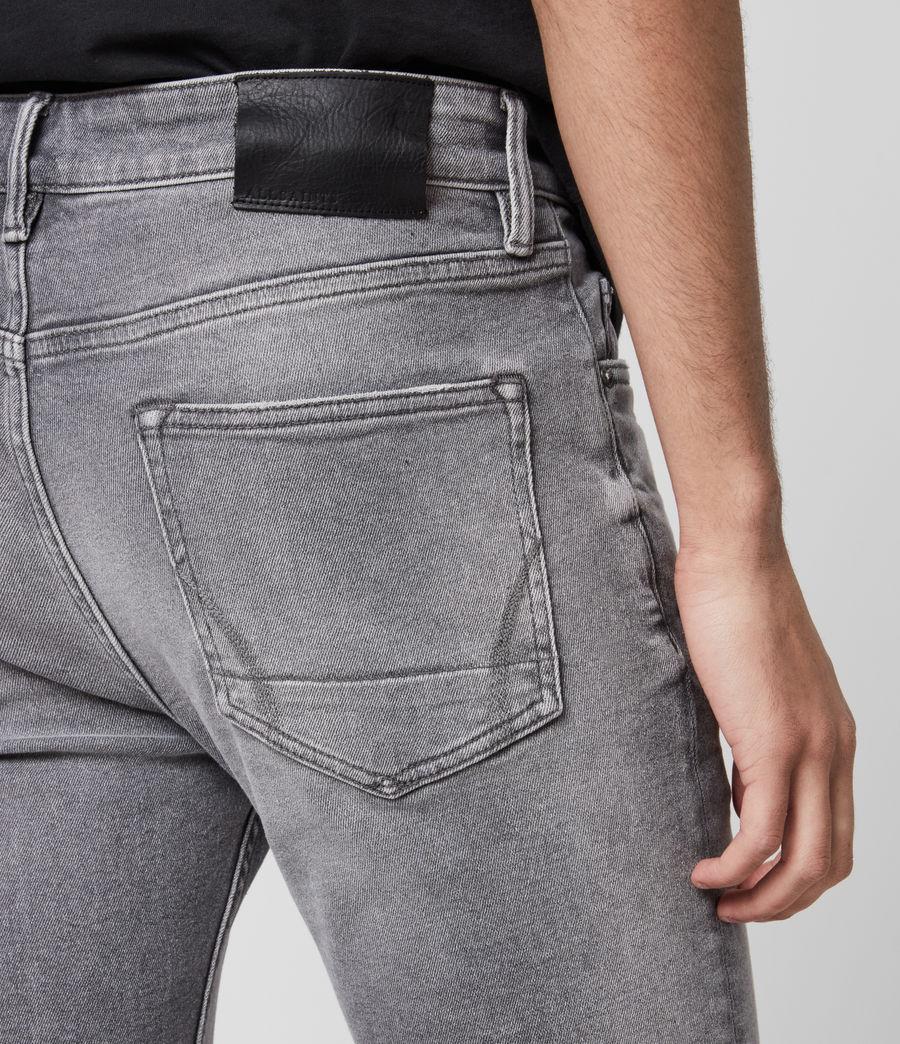 Mens Rex Damaged Slim Jeans, Grey (grey) - Image 5