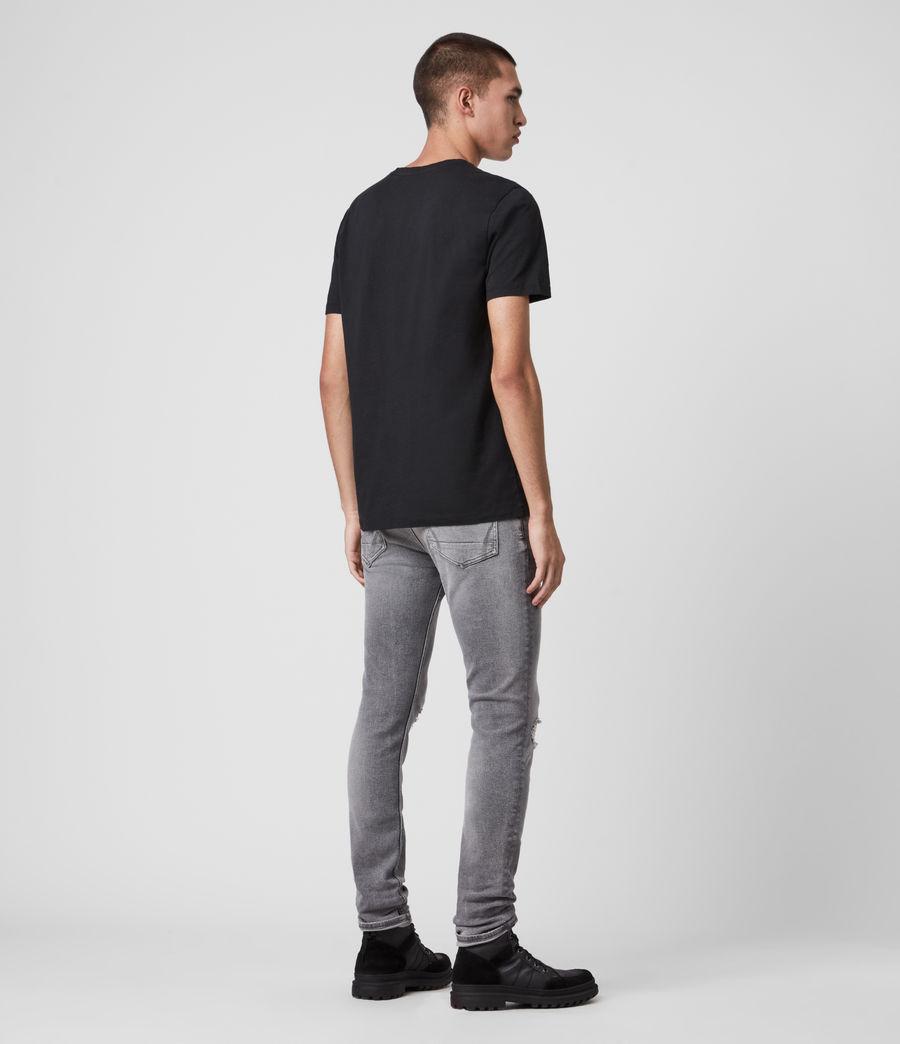Mens Rex Damaged Slim Jeans, Grey (grey) - Image 6