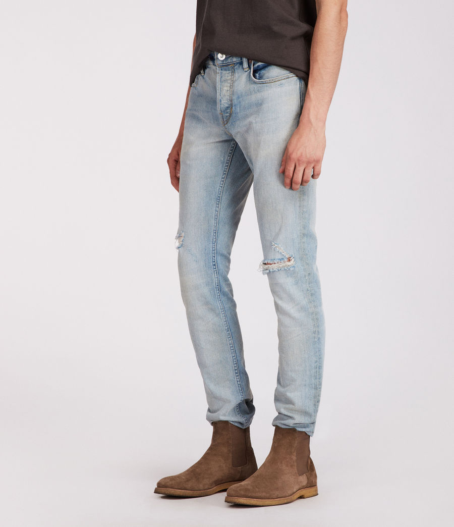 Mens Iredell Rex Straight Skinny Jeans (indigo) - Image 4