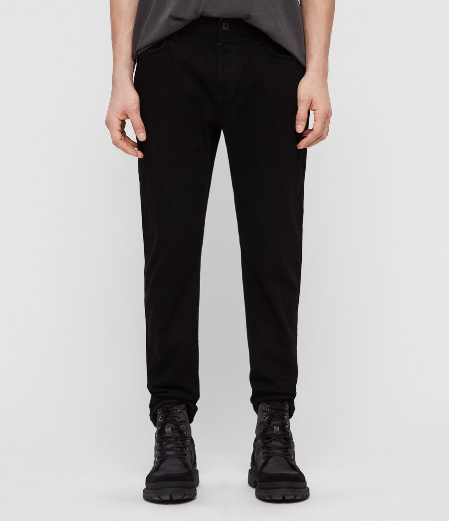Men's Carter Straight Jeans, Jet Black (jet_black) - Image 1