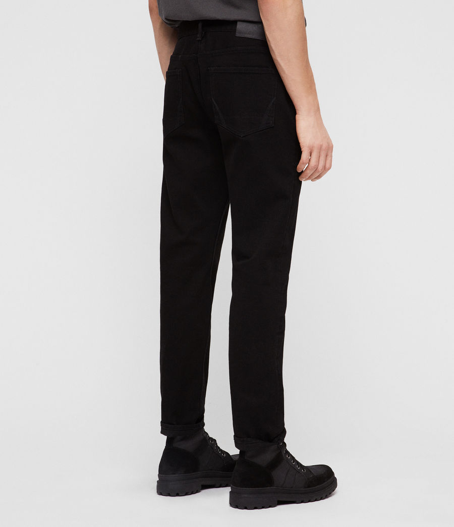 Men's Carter Straight Jeans, Jet Black (jet_black) - Image 2