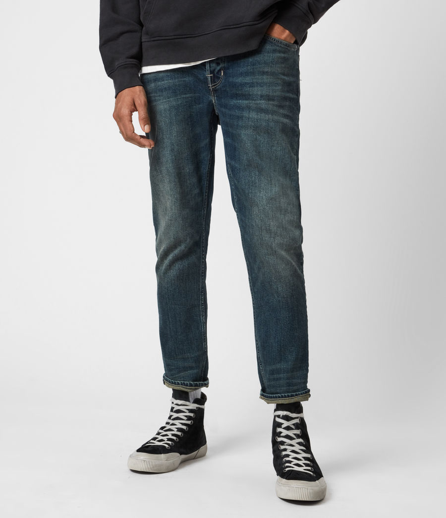 Men's Dean Cropped Slim Jeans, Dirty Indigo (dirty_indigo) - Image 1