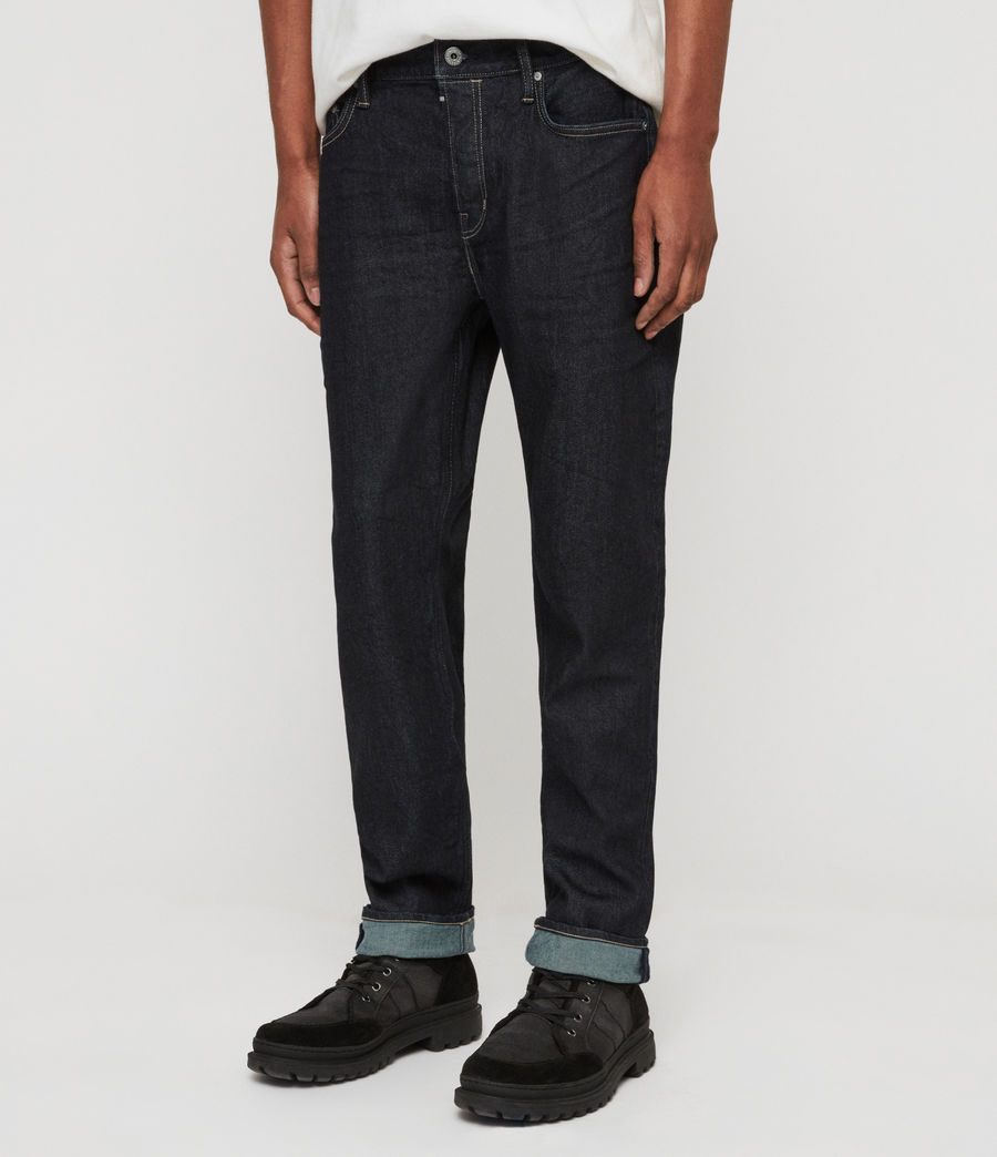 Mens Carter Straight Jeans, Dark Indigo Blue (dark_indigo_blue) - Image 1