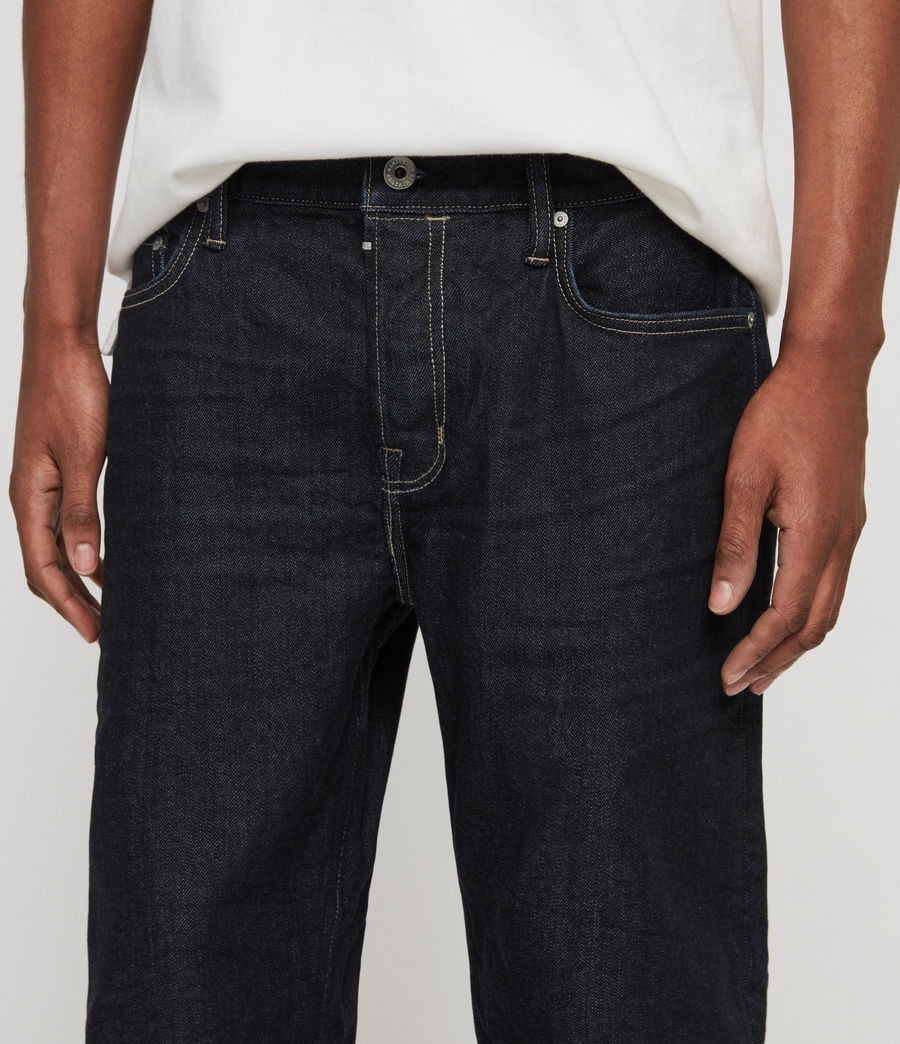 Mens Carter Straight Jeans, Dark Indigo Blue (dark_indigo_blue) - Image 3