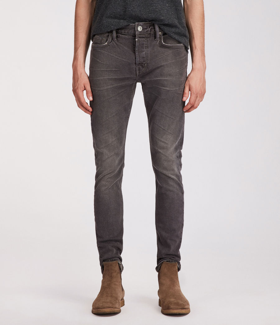 Mens Galendo Rex Straight Skinny Jeans (grey) - Image 1