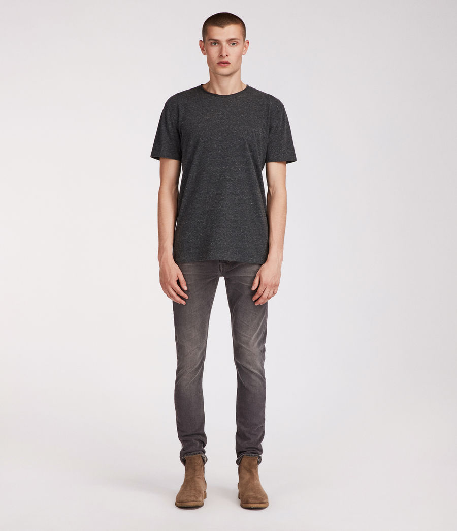 Mens Galendo Rex Straight Skinny Jeans (grey) - Image 3