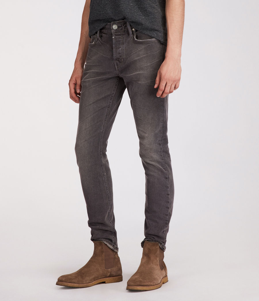 Mens Galendo Rex Straight Skinny Jeans (grey) - Image 4