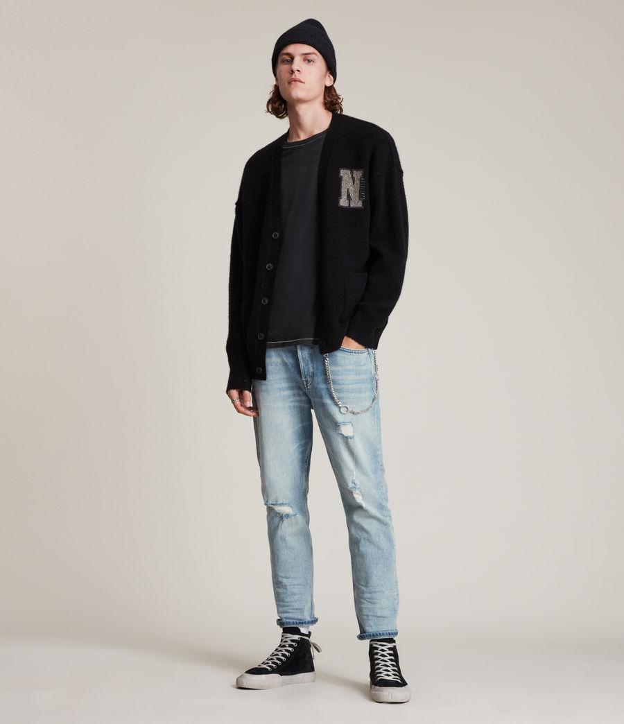 Men's Jack Damaged Straight Jeans, Light Indigo (light_indigo) - Image 2