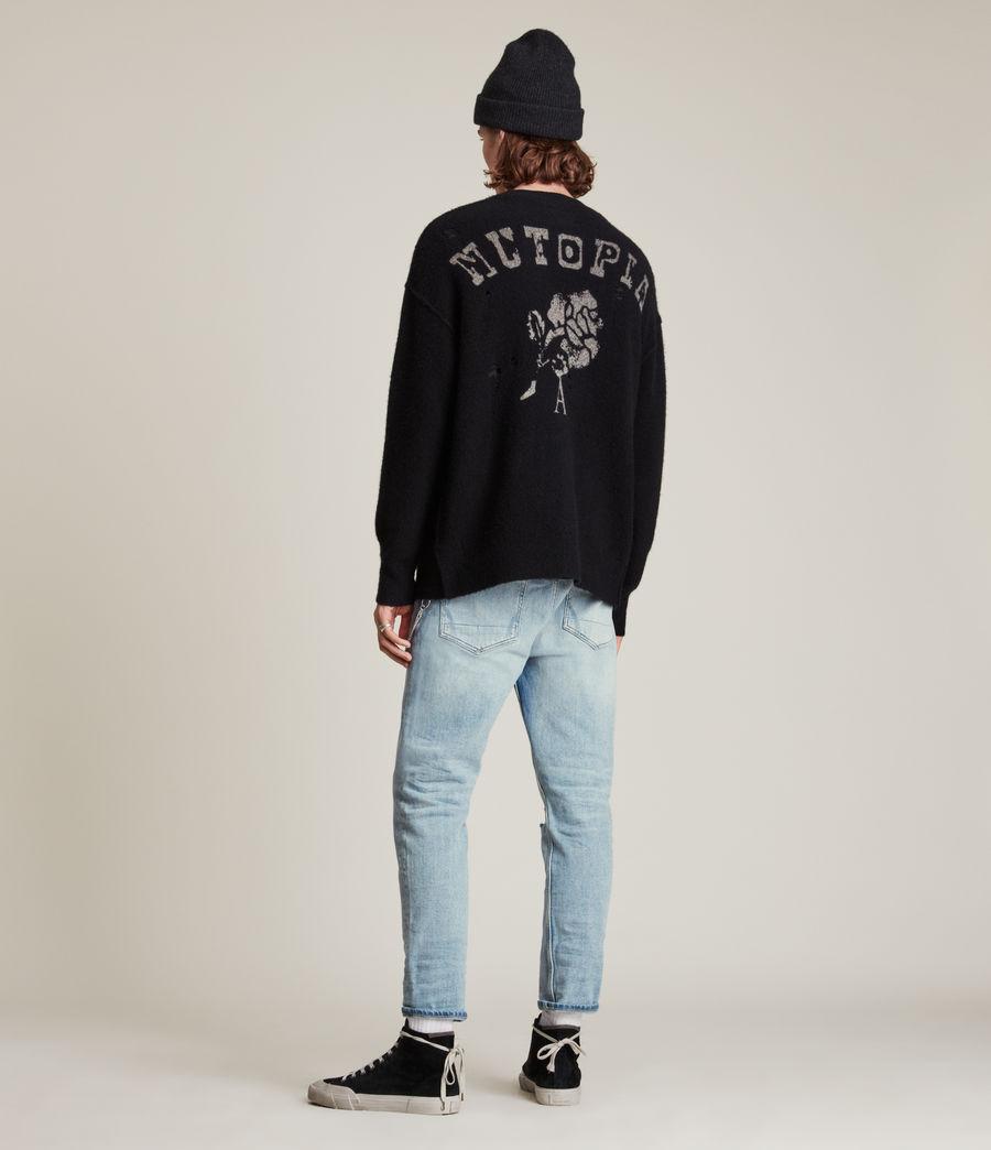 Men's Jack Damaged Straight Jeans, Light Indigo (light_indigo) - Image 4