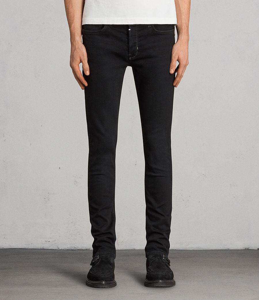 Mens Balboa Rex Straight Skinny Jeans (black) - Image 1
