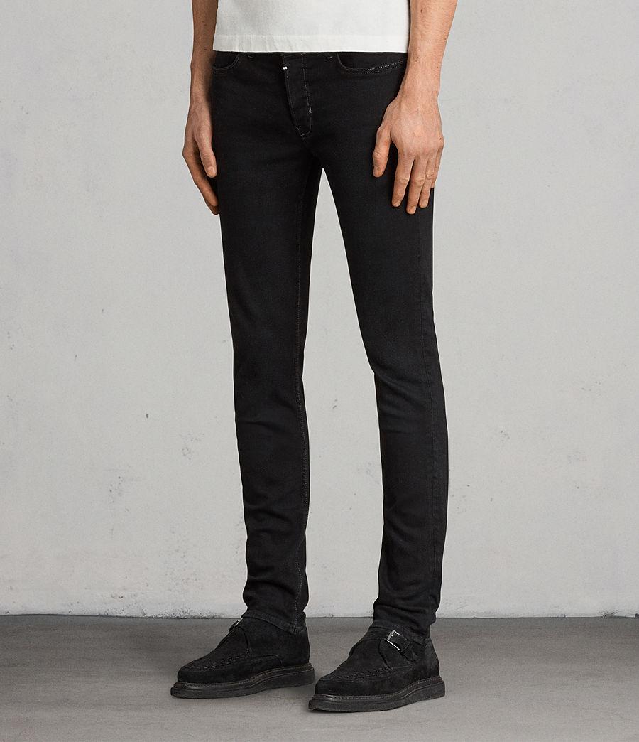 Mens Balboa Rex Straight Skinny Jeans (black) - Image 3