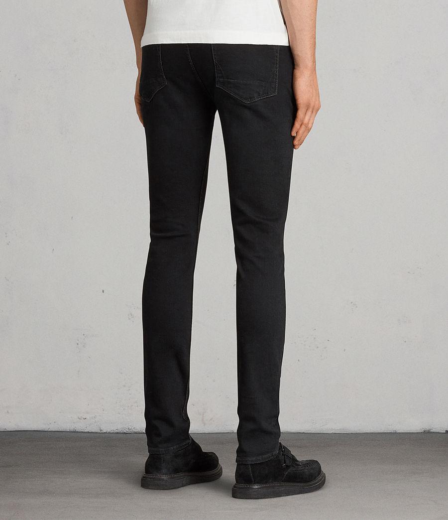 Mens Balboa Rex Straight Skinny Jeans (black) - Image 4