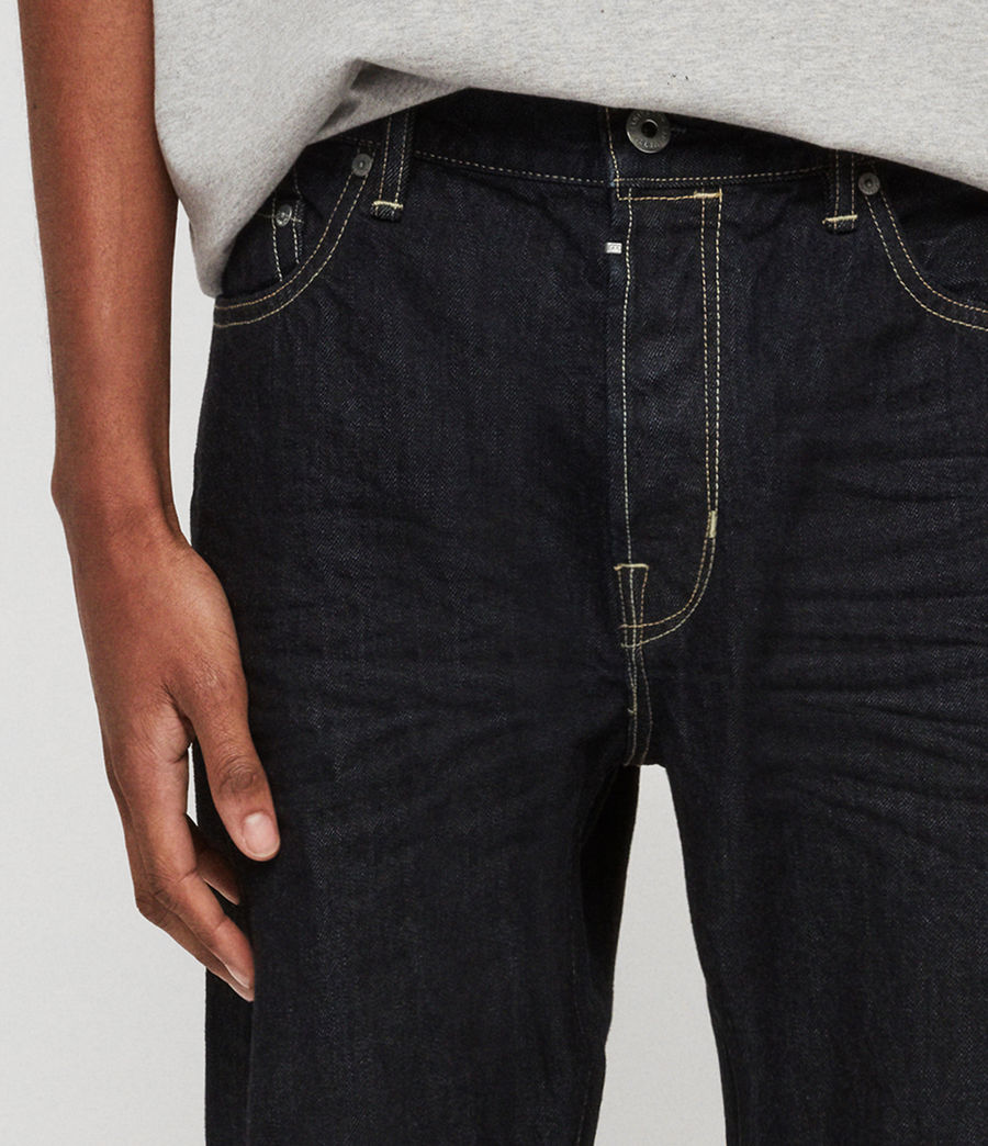 Men's Ridge Tapered Jeans, Dark Indigo Blue (dark_indigo_blue) - Image 4