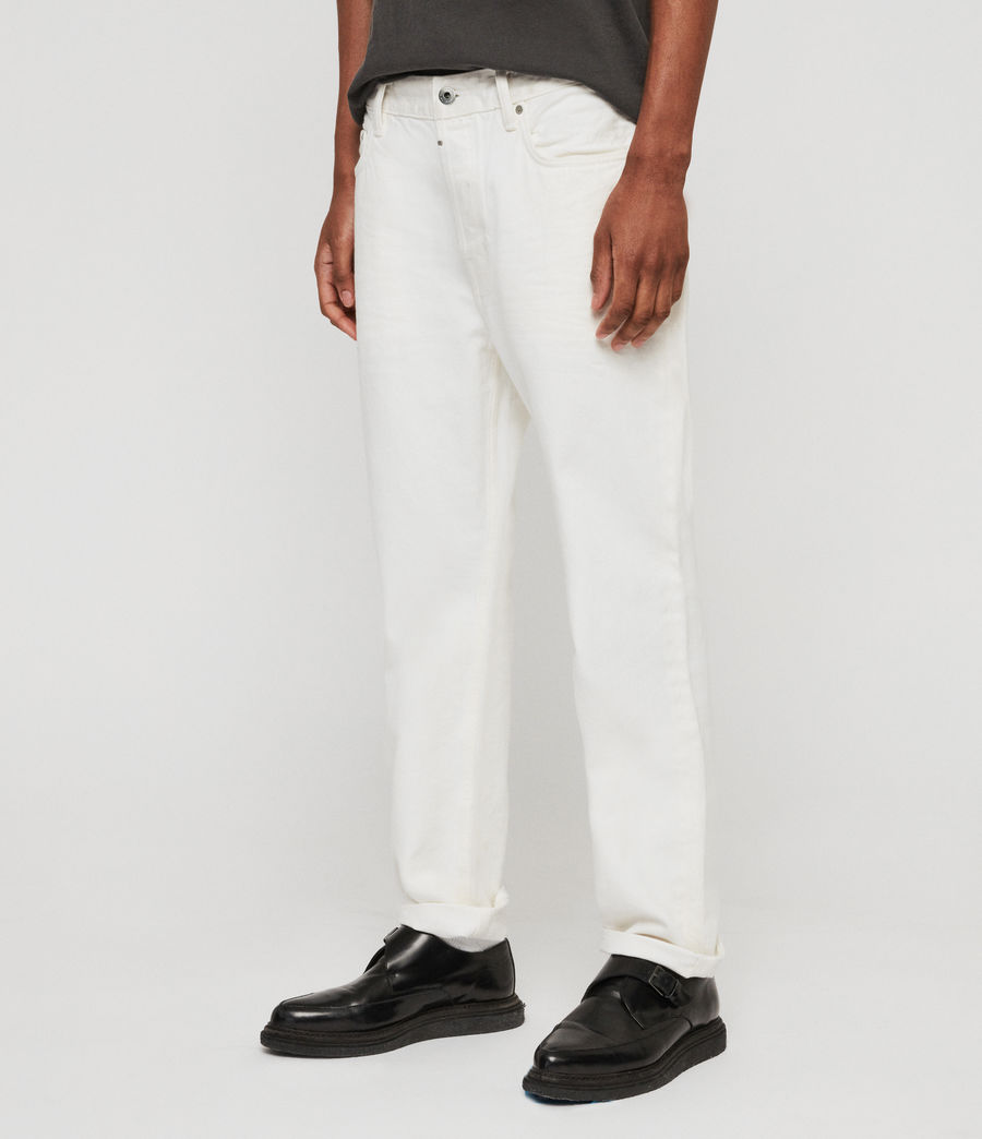 Mens Ridge Tapered Jeans, Chalk (chalk) - Image 3