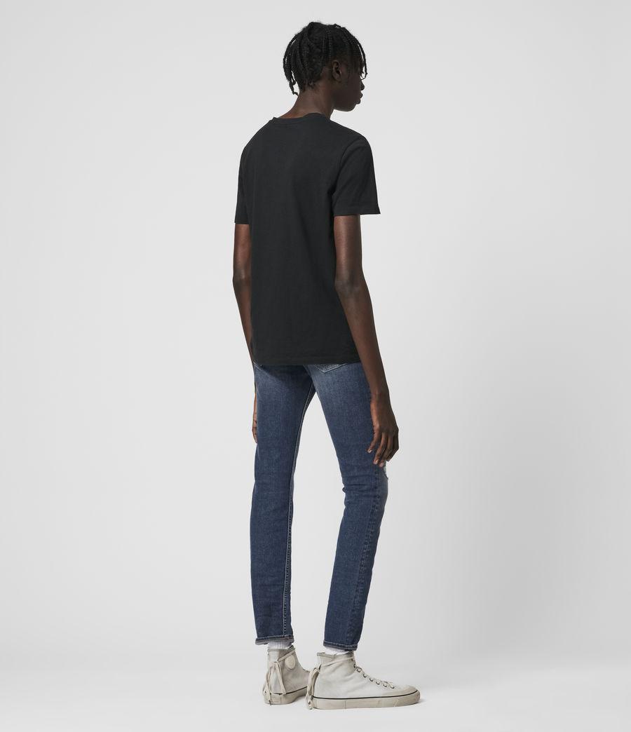 Men's Cigarette Damaged Skinny Jeans, Dark Indigo (dark_indigo) - Image 5