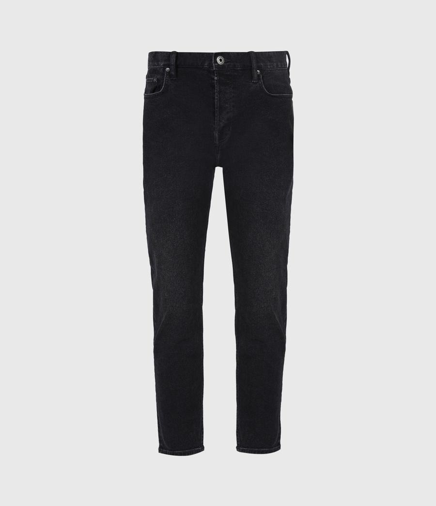 Men's Jack Damaged Straight Jeans, Washed Black (washed_black) - Image 2