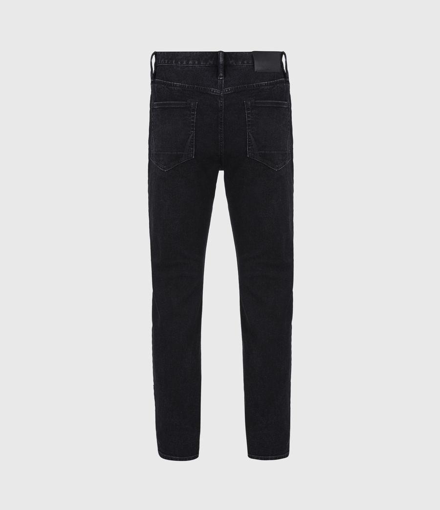 Men's Jack Damaged Straight Jeans, Washed Black (washed_black) - Image 3