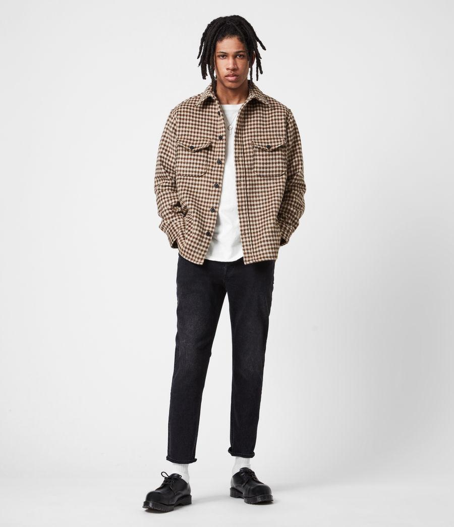 Men's Jack Damaged Straight Jeans, Washed Black (washed_black) - Image 4