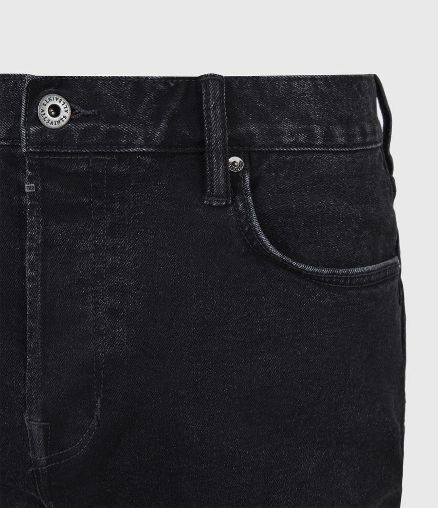 Men's Jack Damaged Straight Jeans, Washed Black (washed_black) - Image 5