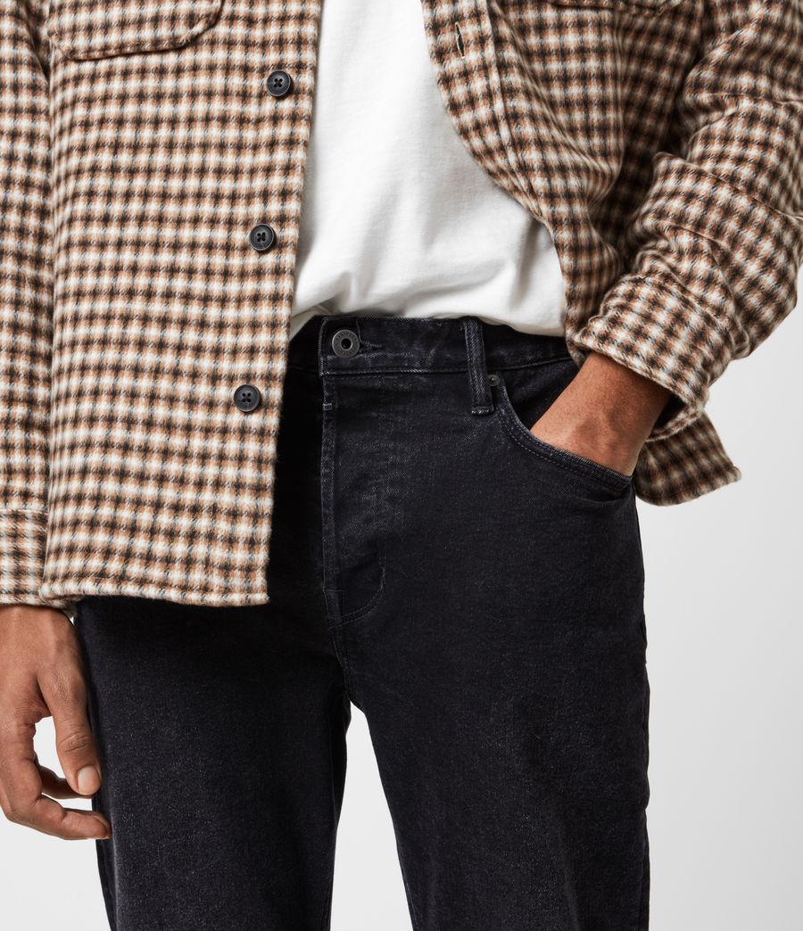Men's Jack Damaged Straight Jeans, Washed Black (washed_black) - Image 6