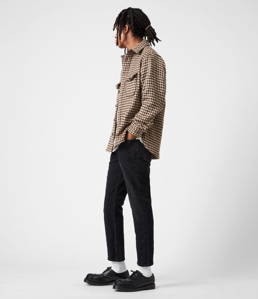 Men's Jack Damaged Straight Jeans, Washed Black (washed_black) - Image 7