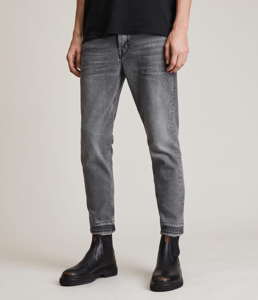 Herren Dean Cropped Slim Jeans, Washed Black (washed_black) - Image 1