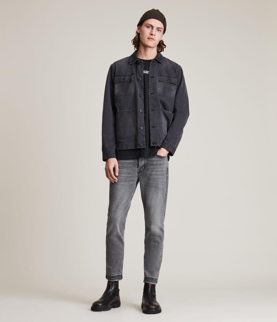 Herren Dean Cropped Slim Jeans, Washed Black (washed_black) - Image 2