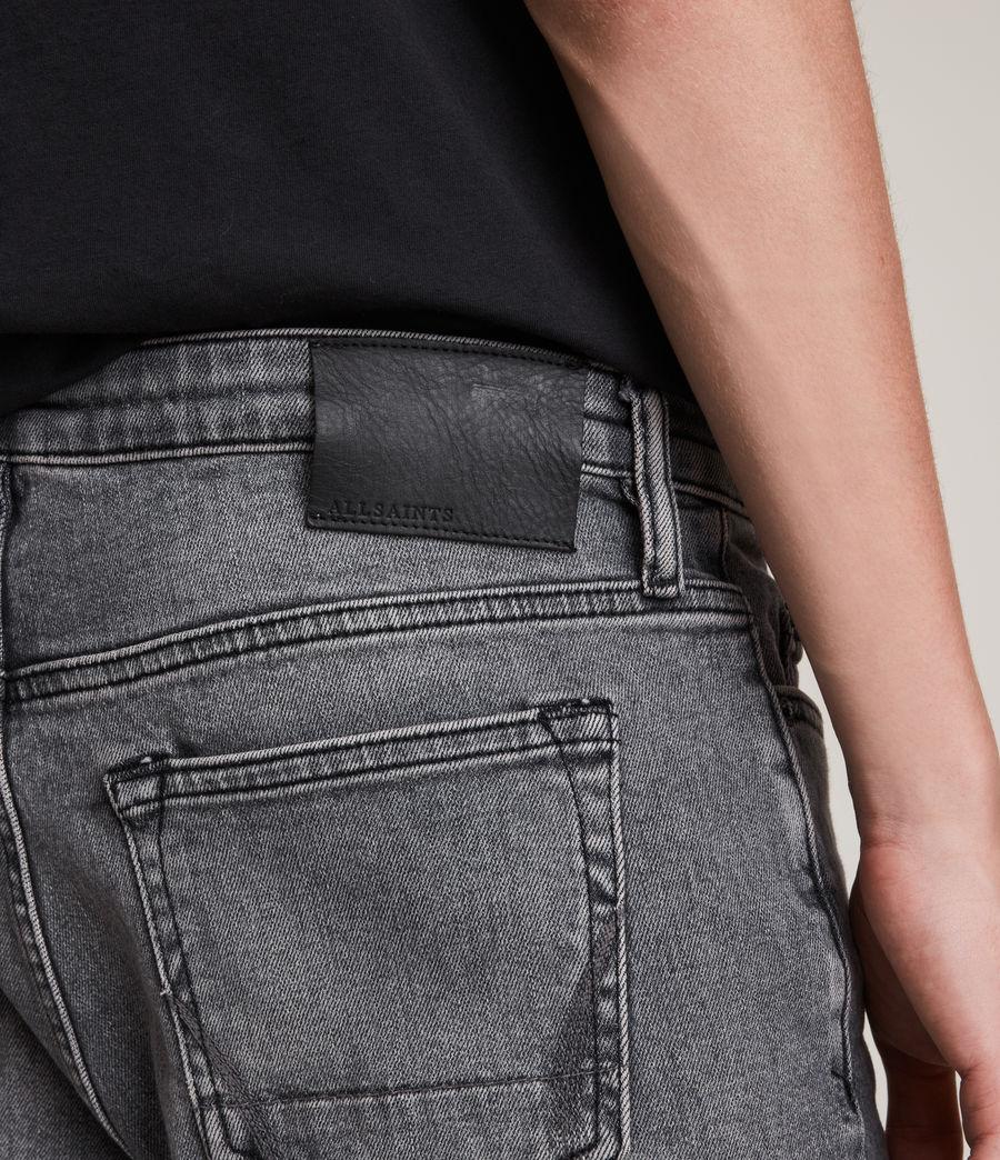 Herren Dean Cropped Slim Jeans, Washed Black (washed_black) - Image 3