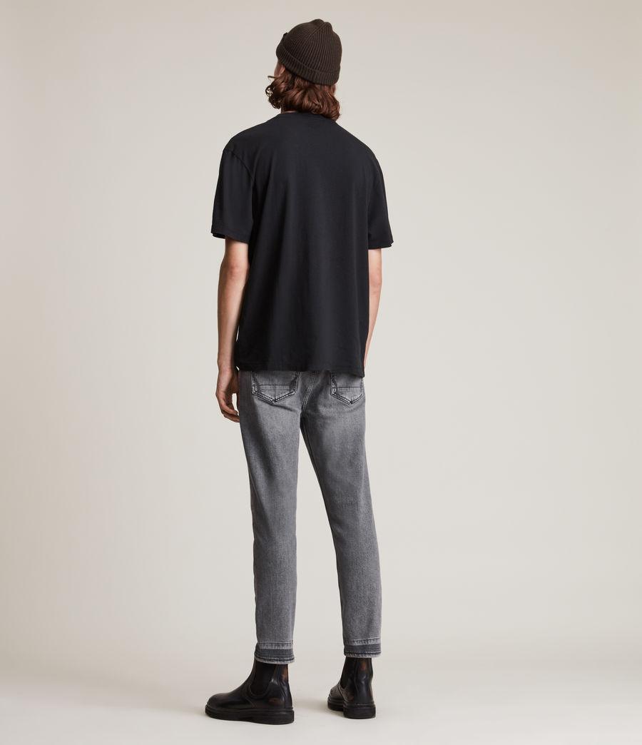 Herren Dean Cropped Slim Jeans, Washed Black (washed_black) - Image 4