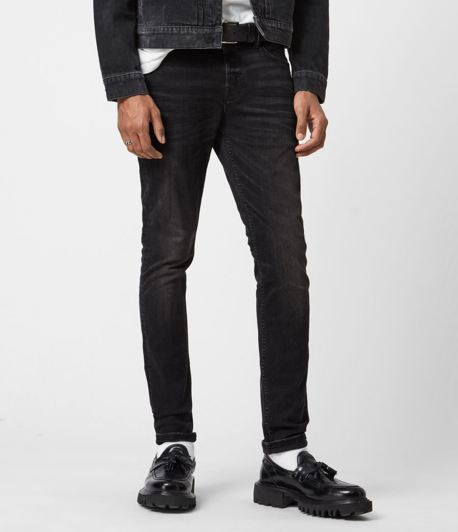 Men's Ronnie Extra Skinny Jeans, Washed Black (washed_black) - Image 1